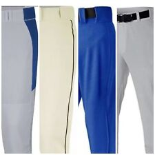 Men's Baseball Pants White Gray Black Royal Ivory Pipe Small Medium Large XL 2XL