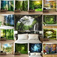 Psychedlic Forest Tree Print Tapestry Wall Hanging Tapestry Art Room Decor Green
