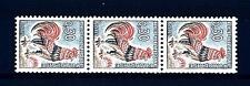 FRANCE - FRANCIA - 1965 - Gallo francese Striscia di tre. N° rosso al verso