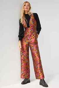 NWT Anthropologie Belline Jacquard Jumpsuit size 4 Original $198