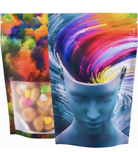 Best Designs | 50 Pack | Smell Proof Mylar Bags Resealable Zip bags