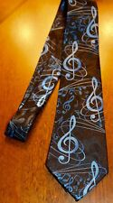 NWT Neck Tie Lot's Of Music Notes Sheet Music All Over On A New Black Tie ! #2
