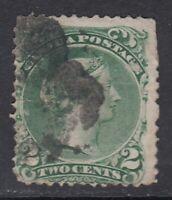 "Canada Scott #24  2 cent  green  ""Large Queen"""