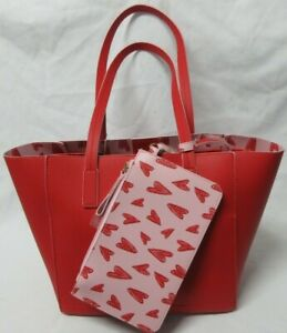 Tommy Bahama 2 Looks In 1 Reversible Women's Red Tote Bag