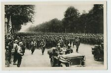 Liberation of Paris American Infantry & Jeep WW2 Real Photograph Postcard R4