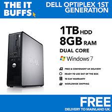 Dell-Dual Core 8 Gb 1 Tb -1.5 Tb Hdd Windows 7-Wifi-Pc De Escritorio De Computadora