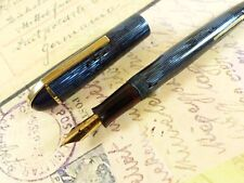 Blue Moire Eversharp Skyline Fountain pen Flex Nib - restored