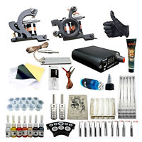 Complete Tattoo Kit Set 7 Inks 5x Needles 2 Tattoo Machines Personalize Yourself