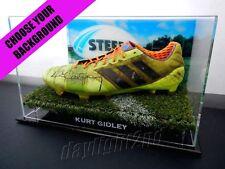 ✺Signed✺ KURT GIDLEY Match Worn Boot COA Newcastle Knights NRL 2017 Jersey