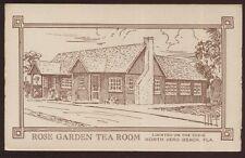 Postcard VERO BEACH Florida/FL  Rose Garden Tea Room Artists Concept 1930's?
