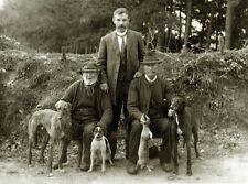 Lurcher DEERHOUND Greyhound Dog Greetings Note Card Three Men and Their Dogs