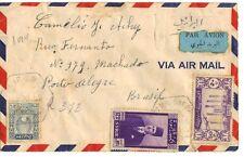 """SYRIA 1929 """"DAHR SAFR"""" REG AIRMAIL CVR VIA LATTAKIA DAMASCUS NY & THEN SOUTH TO"""