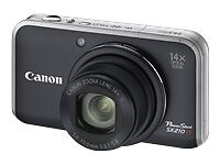 EXC++ CANON SX210 IS 14.1MP DIGITAL CAMERA, BATT+CHARGER+MANUALS+BOX TESTED