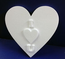 2 EXPANDED POLYSTYRENE VALENTINES ILOVE YOU SIGN