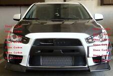 Carbon Fiber Front Canards 4pcs Fit For 08-10 Lancer EVO X 10 Front Bumper