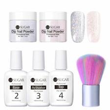 Holographic Silver Pink Dipping Powder Starter Kit Dip System Natural Dry 30ml