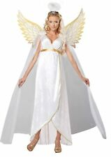Guardian Angel Girl White Christmas Fancy Dress Up Halloween Adult Costume