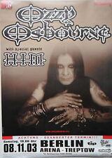 OZZY OSBOURNE (Black Sabbath) Tour Poster Berlin 08.11.2003