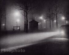 1934 Vintage Brassai Paris Street Foggy Night Cityscape France Photo Gravure Art