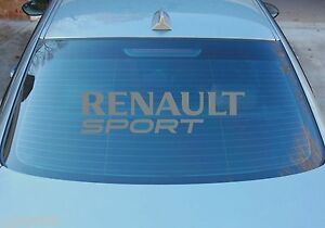 RENAULT SPORT LARGE WINDOW STICKER GRAPHICS 580mm x 145mm CHOICE OF COLOURS