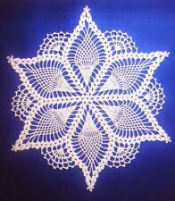 Crochet Tablecloth Vintage Handmade Crocheted Doily Crochet Lace