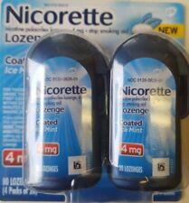 NICORETTE LOZENGE 4MG COATED ICE MINT CIGARETTE STOP SMOKING AID 80PCS 2/22