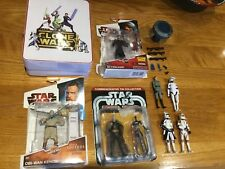 STAR WARS CLONE WARS Figures Bundle Comte Dooku Obi Wan Anakin 3x Clone Troopers