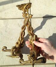 Paire bronze doré XIXéme dragons Porte Sabres Viardot Viollet le duc chine ?