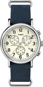 Timex Weekender Chrono Watch TW2P62100 , Nylon strap and Indiglo Night Light