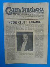 Gazeta Strazacka Warszawa 1 lutego 1938 roku