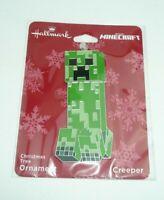 Minecraft Creeper Christmas Tree Ornament Holiday Flat Metal Hallmark Green Game