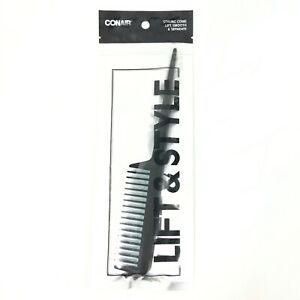 Conair Styling Comb Lift Smooth Separate Black