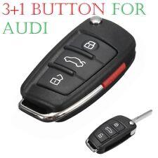 AUDI A3 A4 A6 A8 TT Q7 S6 Quattro 3+1 Botón Remoto Llave Carcasa Protectora Flip Fob coche