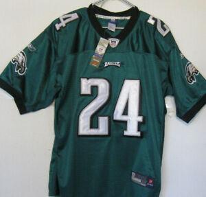NWT Philadelphia Eagles NFL Jersey Reebok Onfield Asomugha #24 Size 52 Green