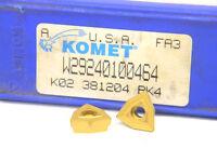 10 NEW SURPLUS KOMET W29 24010.0464 CARBIDE INSERTS WOEX 05T304-01BK4
