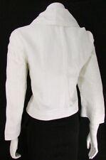 Giorgio Armani Women Cream Jacket Fashion Linen Coat Oversize Neck Size 48 - 14