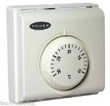 TOWER Combi Room Thermostat Central Heating Mechanical Dial Stat STTRS1