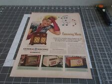 1946 HILDEGARDE - GENERAL ELECTRIC Radios - VINTAGE AD