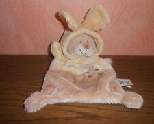 Schmusetuch Bär mit Hasenmütze - gelb / braun von Zannier