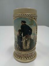 Nautical Vintage Norman Rockwell Looking Out To Sea Porcelain Mug Tankard Stein