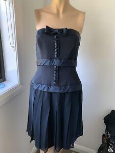 Designer Neiman Marcus Kathryn Conover Strapless Silk Dress Size 12
