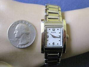 #458 ladys stainless steel  BULOVA  quartz watch  bracelet