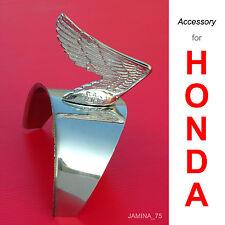 Honda Super Cub C50 C65 C70 C90 Headlight Chrome Cap Visor Wing Emblem Badge NEW