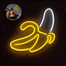 Bacasin Bananas Led Neon Lights Sign For Bedroom Wall Decor Up Signs Usb Powered