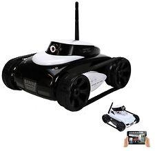 Mini CARRO ARMATO SPIA radiocomandato Wireless COMPATIBILE IPHONE IPAD ANDROID