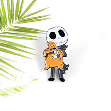 Cartoon Brooches Halloween Horror Skeleton Ghosts Lapel Pin Enamel Pins Badges