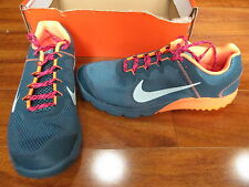 NEW NIKE Zoom Wildhorse Trail Running Shoes Womens 11.5 Grey Orange 599121-348
