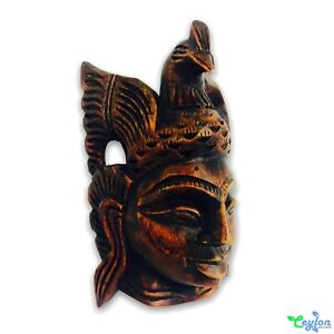 Dewa wood mask carving mask Ceylon tradition handcraft & handmade for wall