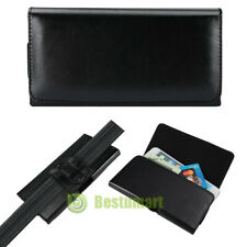 Black Leather Horizontal Holster Belt Clip Loop Phone Pouch Case For iPhone 11 X