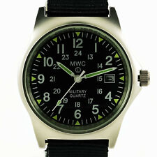 MWC G10 LM 12/24 Military Watch (Black Strap)